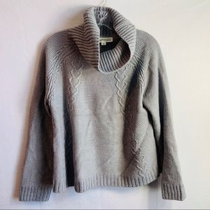 Nordstrom gray cowl neck sweater